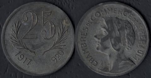 Эро 25 сантим 1917