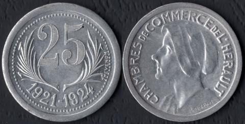 Эро 25 сантим 1921