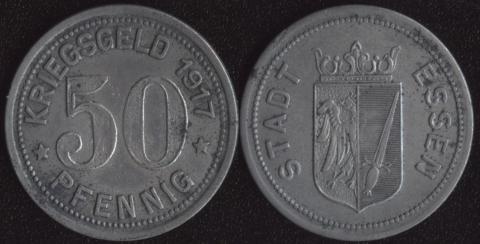 Эссен 50 пфеннигов 1917