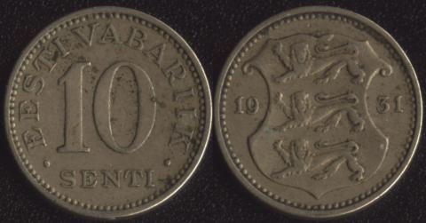 Эстония 10 сенти 1931