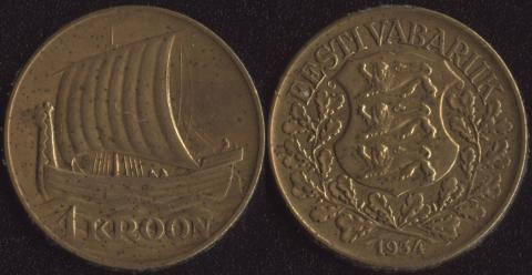 Эстония 1 крона 1934