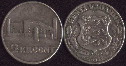 Эстония 2 кроны 1930