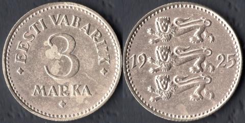 Эстония 3 марки 1925
