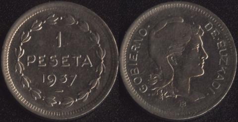 Эузкади 1 песета 1937
