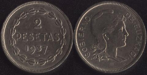 Эузкади 2 песеты 1937