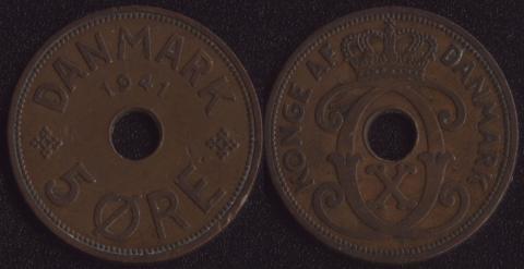 Фарерские острова 5 оре 1941