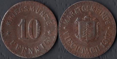 Фихтах 10 пфеннигов 1917