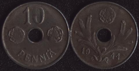 Финляндия 10 пенни 1944