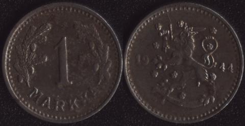 Финляндия 1 марка 1944
