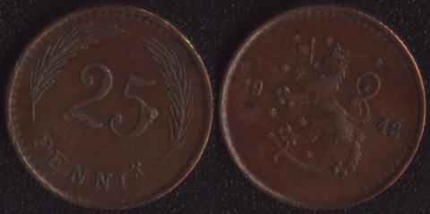 Финляндия 25 пенни 1942