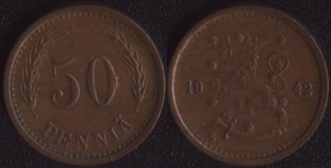 Финляндия 50 пенни 1942