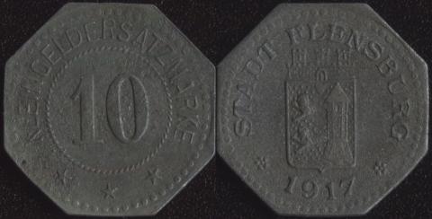 Фленсбург 10 пфеннигов 1917