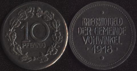 Фохвинкель 10 пфеннигов 1918