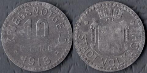 Фолькач 10 пфеннигов 1918