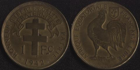 Французская Экваториальная Африка 1 франк 1942