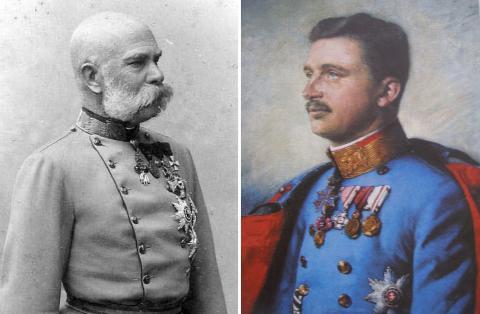 Императоры Австро-Венгрии Франц-Иосиф I и Карл IV