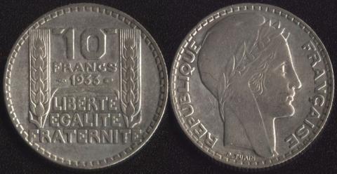 Франция 10 франков 1933