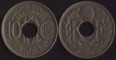 Франция 10 сантим 1923