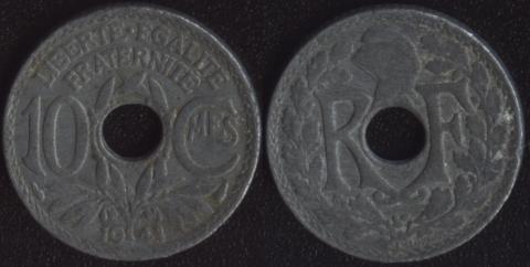 Франция 10 сантим 1941 (1)