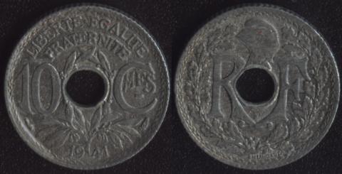 Франция 10 сантим 1941 (2)