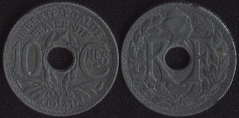 Франция 10 сантим 1941 (3)