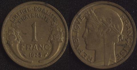 Франция 1 франк 1935