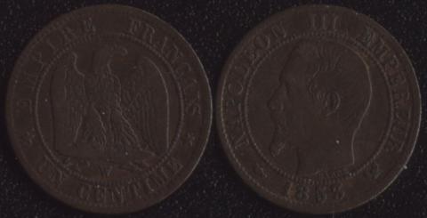 Франция 1 сантим 1853
