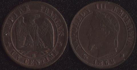 Франция 1 сантим 1862