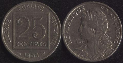 Франция 25 сантим 1903