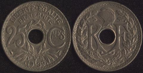 Франция 25 сантим 1939