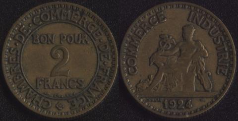 Франция 2 франка 1924