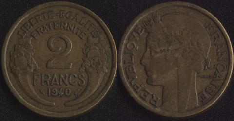 Франция 2 франка 1940