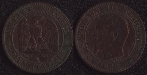 Франция 2 сантима 1856