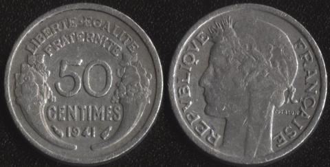 Франция 50 сантим 1941