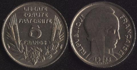 Франция 5 франков 1933(1)