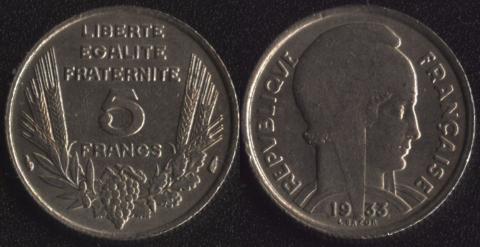 Франция 5 франков 1933 (1)