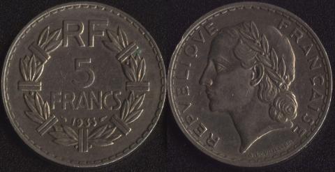 Франция 5 франков 1933(2)