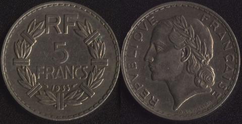 Франция 5 франков 1933 (2)