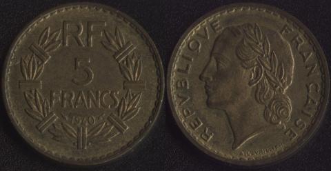 Франция 5 франков 1940