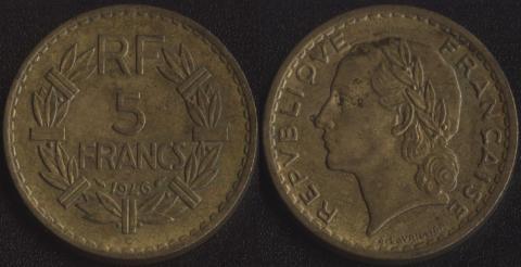 Франция 5 франков 1946С