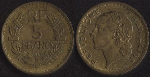 Франция 5 франков 1946 C