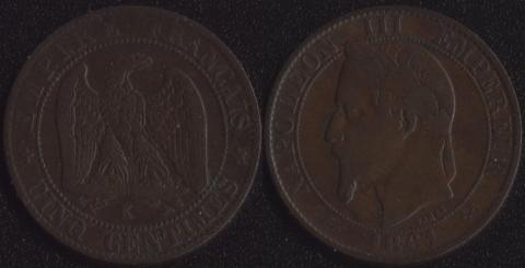 Франция 5 сантим 1861