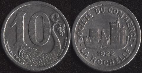 Франция (Ля Рошель) 10 сантим 1922