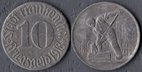 Франкенталь 10 пфеннигов 1918