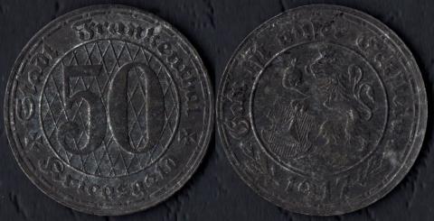 Франкенталь 50 пфеннигов 1917
