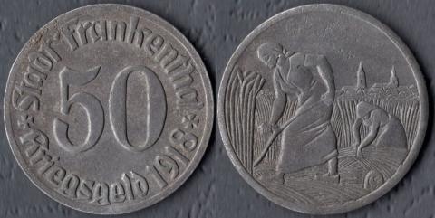 Франкенталь 50 пфеннигов 1918