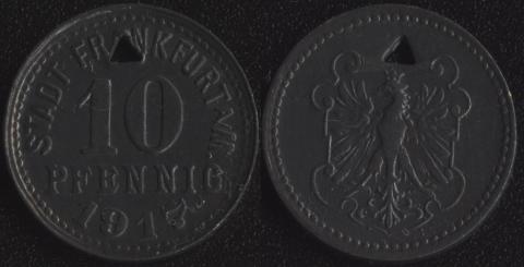 Франкфурт на Майне 10 пфеннигов 1917