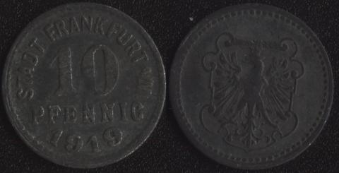 Франкфурт на Майне 10 пфеннигов 1919