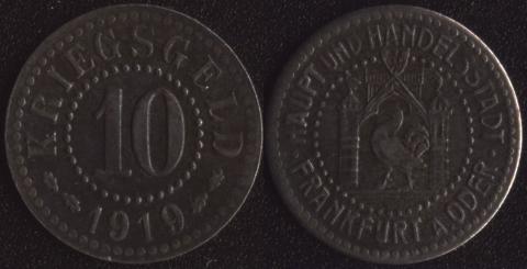 Франкфурт на Одере 10 пфеннигов 1919