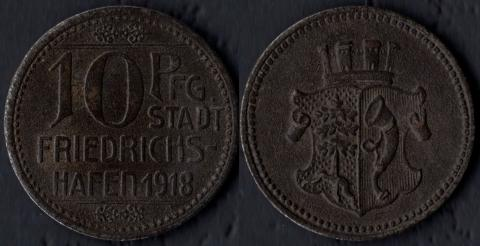 Фридрихсхафен 10 пфеннигов 1918